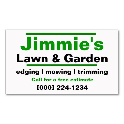 210 best lawn care business cards images on pinterest business lawn care business card colourmoves