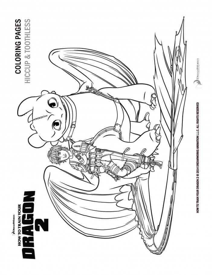 How To Train Your Dragon Coloring Pages And Activity Sheets