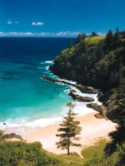 Picturesque Norfolk Island. With only bikes for transport the island is a real getaway from it all. #sandyfeetaustralia