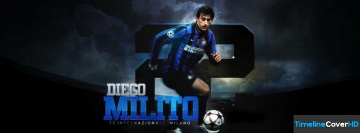 Inter Milan Diego Milito Facebook Cover Timeline Banner For Fb Facebook Cover
