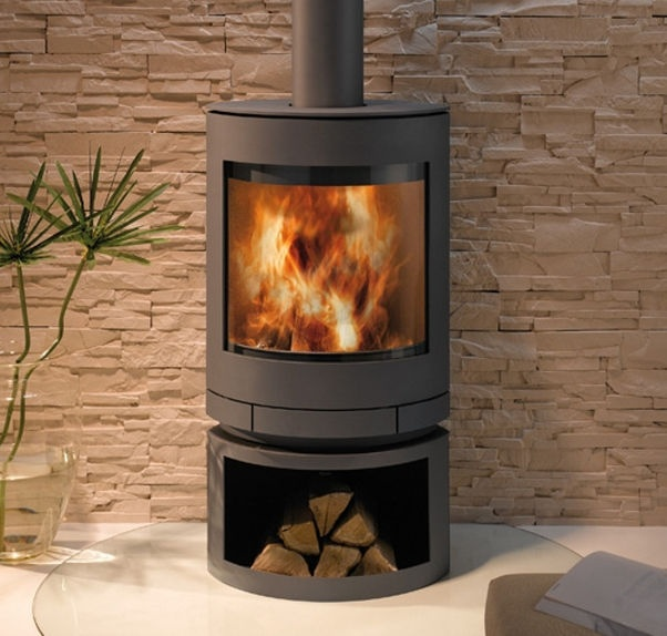 contemporary wood-burning stove (rotating) EMOTION S SKANTHERM