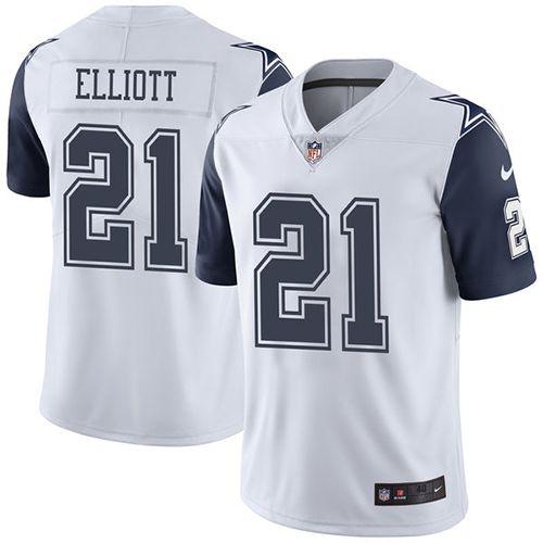 c030ba06f ... Nike Dallas Cowboys Mens 21 Ezekiel Elliott Elite White Rush NFL Jersey  ...