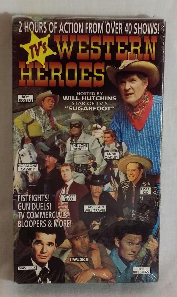 TV Western Heroes VHS - B&W / Color 2 Hrs - Lone Ranger / Wyatt Earp / Maverick