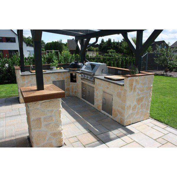 Selbstgebaute Außenküche mit BeefEater und Monolith Grill   – Sandra K.