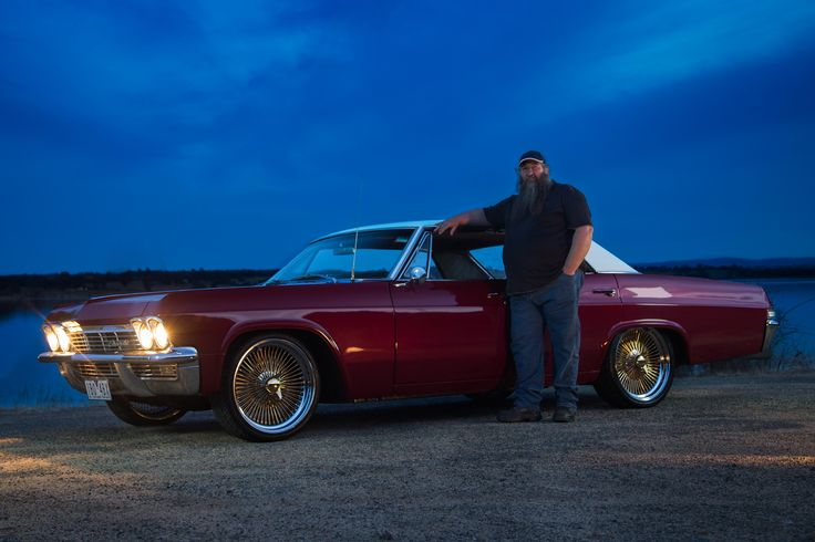 Glen Painting with his 1965 Chevrolet Impala