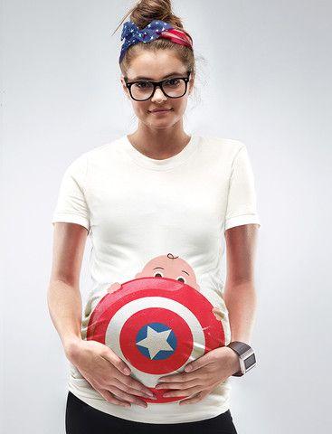 Captain America Maternity Halloween T-Shirt