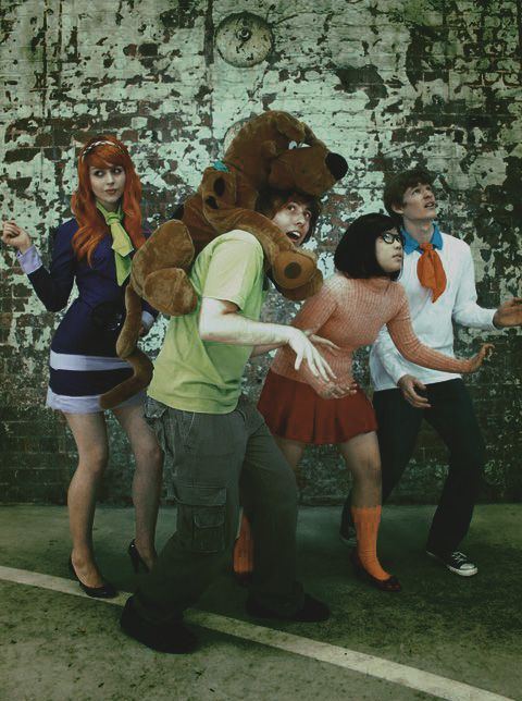 Dress up as Scooby-Doo and the gang on Halloween. Run around unmasking people.