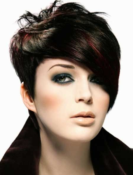 I'll need just a slight modification of the long side. Love it. vg Black short trendy hairstyle