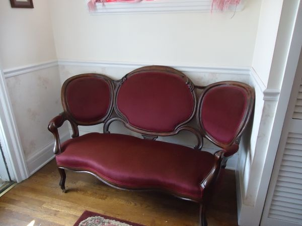 Antique victorian dining room set the settee to the set