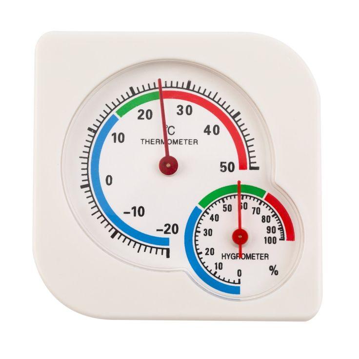 Indoor Terbuka Thermometer Hygrometer Suhu-20 sampai + 50 Celcius Taman Kantor Kelembaban Meter Berdiri dan Hiasan Dinding