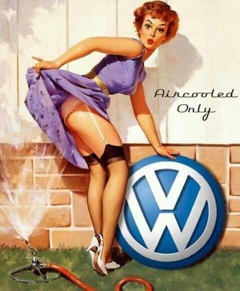 "Vintage GIL ELVGREN Pinup Girl CANVAS ART PRINT Poster Hose Fail 16""X 12"""