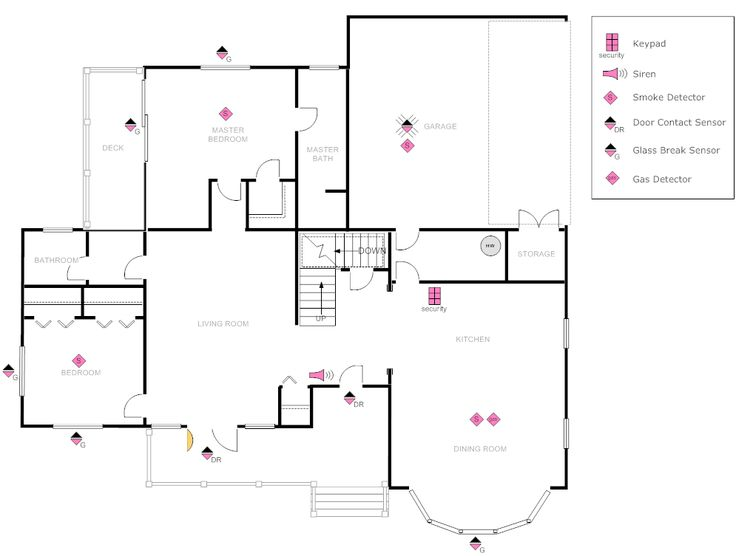 example image  house plan with security layout