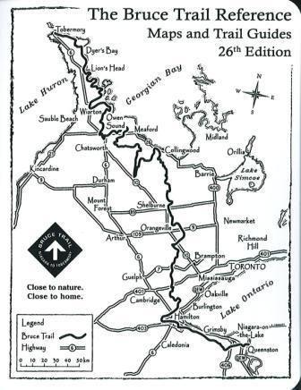 Bruce Trail, Southern Ontario Niagara to Tobermory 30 days (8 hour days)