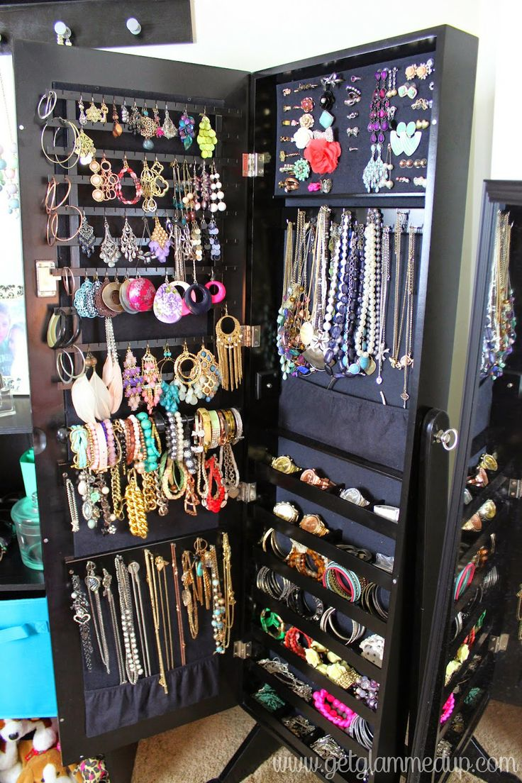 Lori greiner jewelry box bed bath and beyond - Video Jewelry Collection Storage Organization Qvc Safekeeper Lori Greiner Armoire Mirror Https