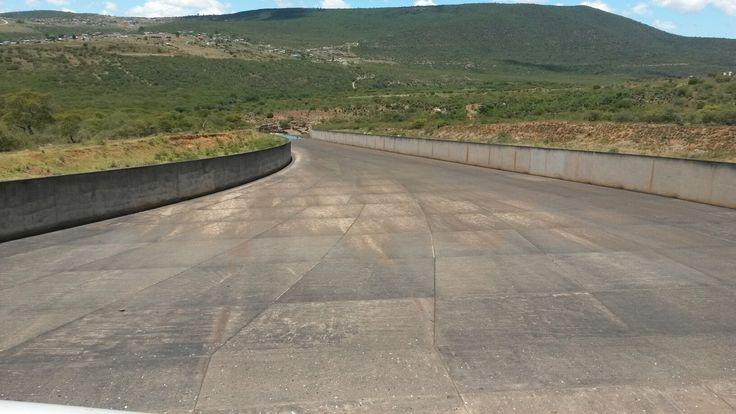 Sandile Dam spill way