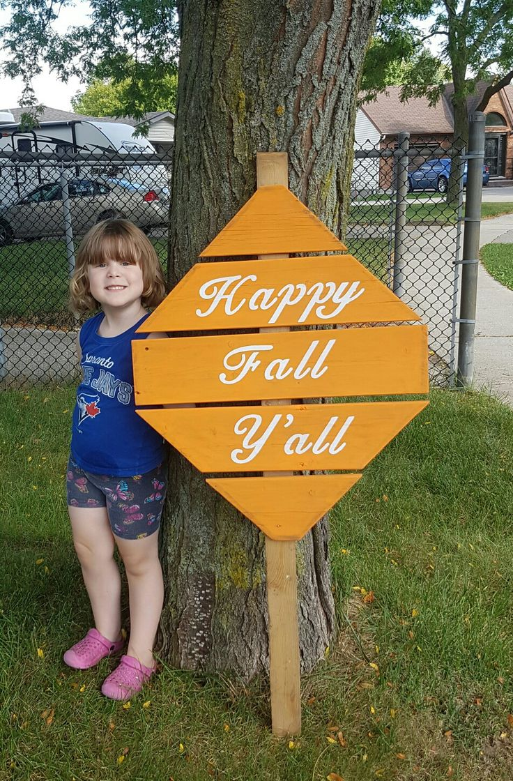 Huge Happy Fall Y'all sign. Kid not included!!! Starts at $40