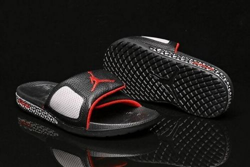 ed68010c0e1a Legit Cheap Air Jordan Hydro 3 III Retro Slide Black Cement Grey University  Red 854556-