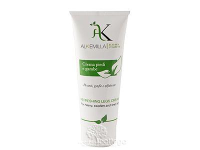 Crema biologica per piedi e gambe di Alkemilla Eco Bi Cosmetics.Defaticante ed elixir di bellezza per gambe e piedi pesanti, gonfie e affaticate.
