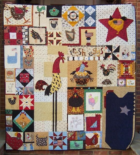 40 Best Quilts Chickens For BN Images On Pinterest Chicken Quilt Mesmerizing Chicken Quilt Pattern