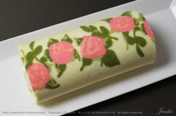 """""""The lunch snacks and fireworks Dekororu rose pattern"""""""