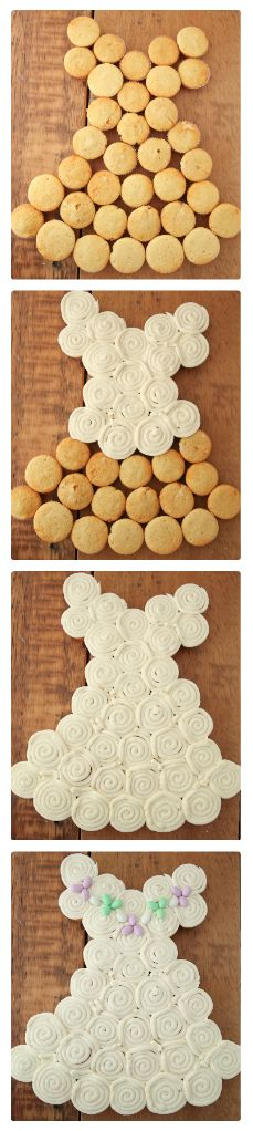 DIY Bridal Shower Cupcakes.  Cute idea and easy enough to replicate.