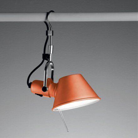Artemide Lampada da parete con gancio Tolomeo Hool - arancio anodizzato…