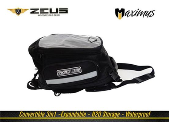 #stepinadventure !!!! Zeus Maximus Tank Bag Description The ZEUS MAXIMUS 3IN1 TANK BAG is a smart touring bag designed for riders who want to use them for work on daily basis or while on touring. Convert it to a backpack , tail bag or a tank bag as per your convenience.  buy now :http://bit.ly/2fkHrlG