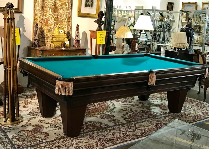 Heritage Regulation Pool Table By Brunswick With Cue Sticks, Balls...  Rack, Stand, Table Cover and Brush   Top of The Line   Ready To Play  Dealer #114  LOST . .again Antiques & Decor 148 Riveredge Dallas, TX 75207