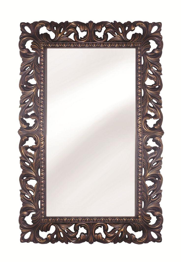 Интерьерное Итальянское зеркало Красное дерево Золото