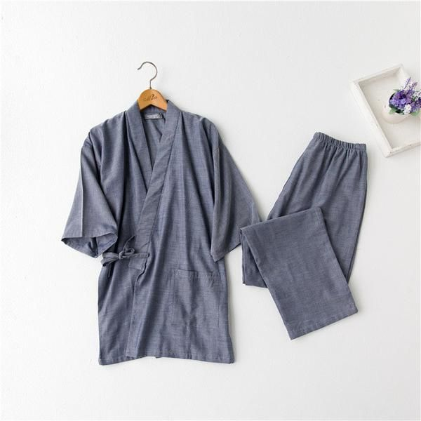 Item Type: PajamasGender: MenBrand Name: TonmodiPattern Type: SolidSleeve Length(cm): Three QuarterStyle: CasualCollar: V-NeckMaterial: CottonClosure Type: Draw