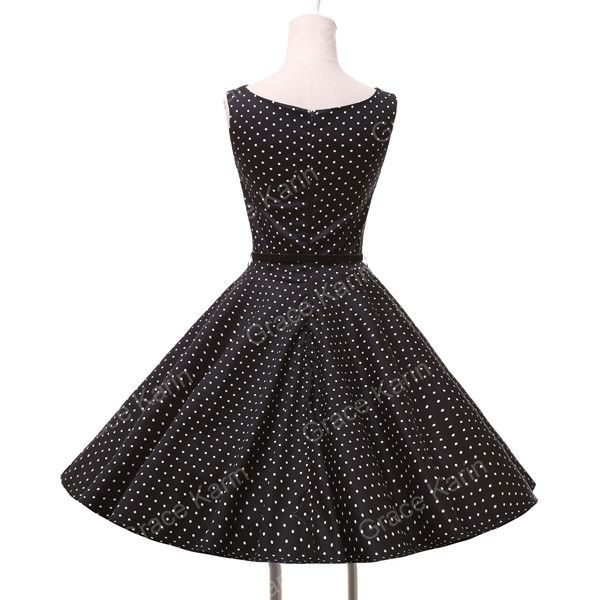 Women Summer Style Inspired Vintage clothing Retro 50s Big Swing audrey hepburn Pinup Polka Dot plus size Woman Dresses vestidos