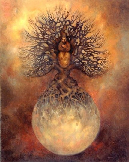 Goddess World Tree Axis by Marcia Snedecor