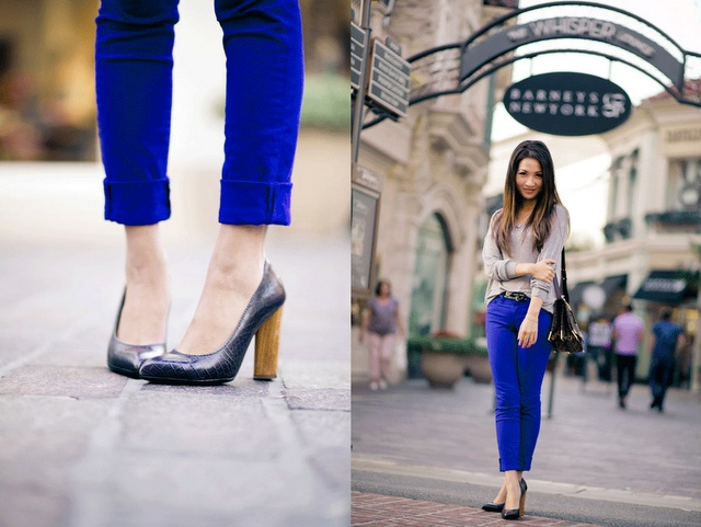 must find cobalt blue pants// love that color! do you have these @Erica Hinton