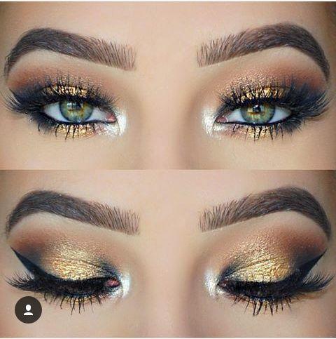 Maquillaje de ojos bellísimo para una ocasión muy especial...  #maquillaje #makeup #ojos #eyes #dorado #golden #belleza #beauty #latina #LatinoMeetup  www.latinomeetup.com - La comunidad líder en contactos latinos.