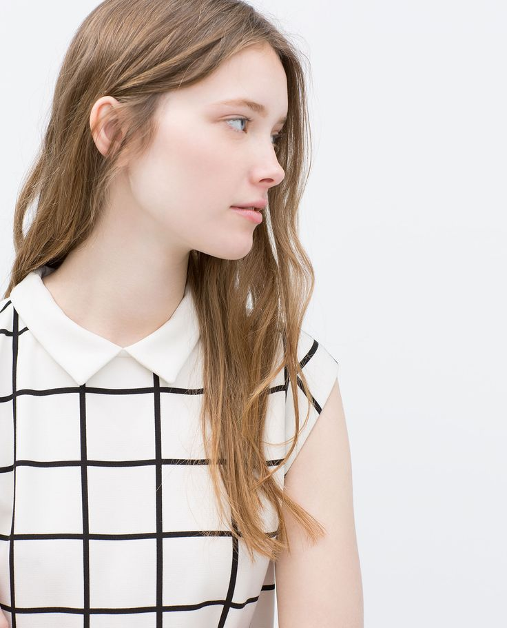 DRESS WITH CONTRASTING COLLAR - View all - Dresses - WOMAN | ZARA United States