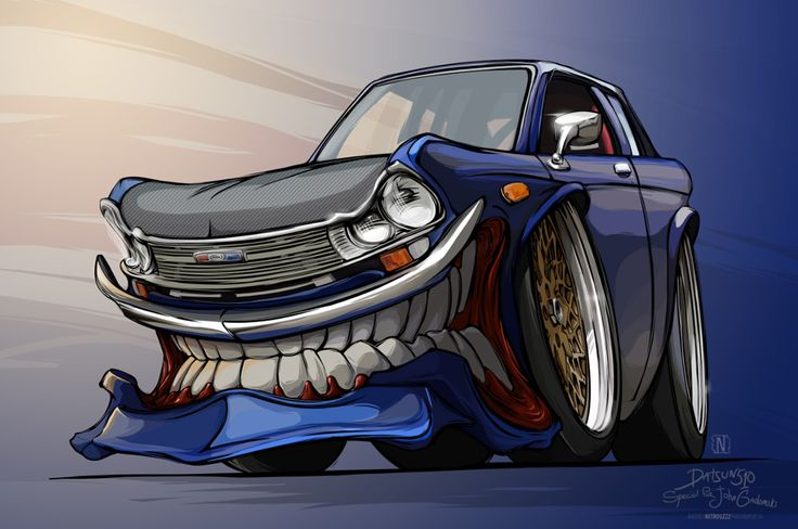 Красивые, рисунки машин смешные