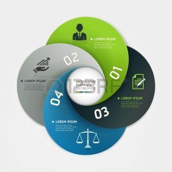Современный бизнес круг вариантов оригами стиль баннер векторные иллюстрации могут быть использованы для размещения рабочих процессов, диаграммы, варианты количество, активизировать опции, веб-дизайн, инфографика фото