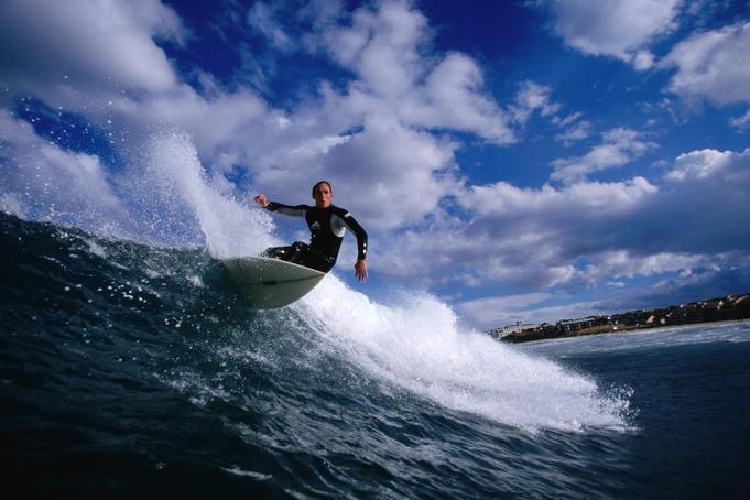Surfing at 'Boneyards', Cape Town