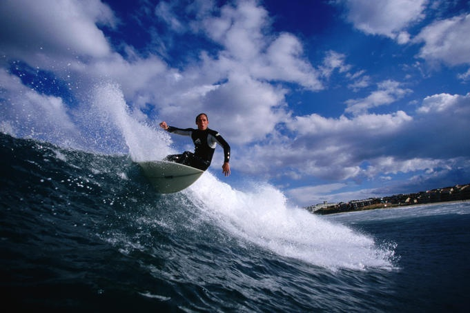 Surfing at 'Boneyards', Cape Town