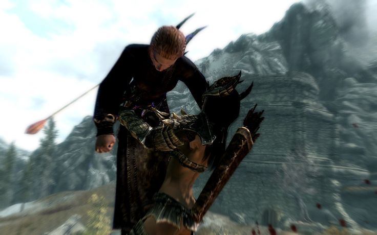 Oh you know... just stabbin' bitches and takin' names. #Skyrim #dragonborn #games