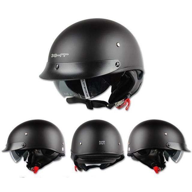 Casque Moto Retro Vintage Harley Helmet Women and Men Open Face Half Helmets For Sale Skull Motorcycle Helmet For Fox Racing
