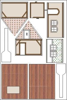 1266 best little houses little things images on pinterest putz doll house printable with templates and instructionsfor making a 124scale dollhouse printable model dollhouse diy solutioingenieria Image collections