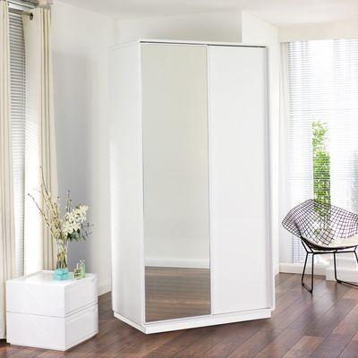 Malone sliding mirror door wardrobe white £499