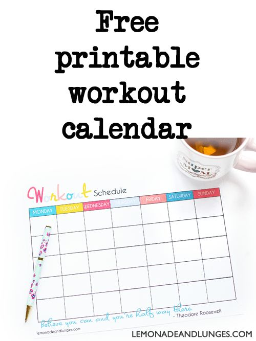 Workout Calendar Printable Pinterestu0027te Aylık egzersizler ve T25 - workout calendar template