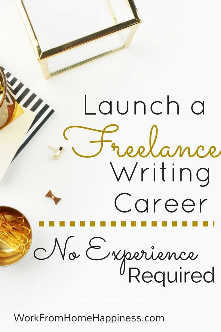 Start a lucrative freelance writing career. The best part? You don't need any experience to get started. I did it. And so can you.