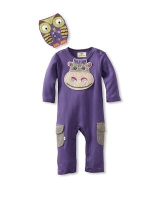 73% OFF Pickle Peas Baby Long Sleeved Romper and Bib Bundle (Purpleicious/Steeple)