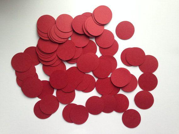 200 Dark Red 1 Paper Confetti Wedding Confetti by CreativityStreet