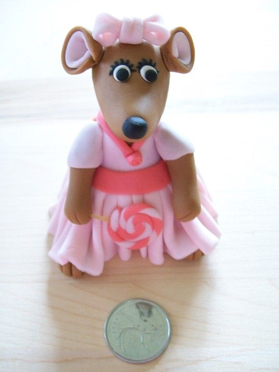 Fondant Girl Mouse Cake Topper