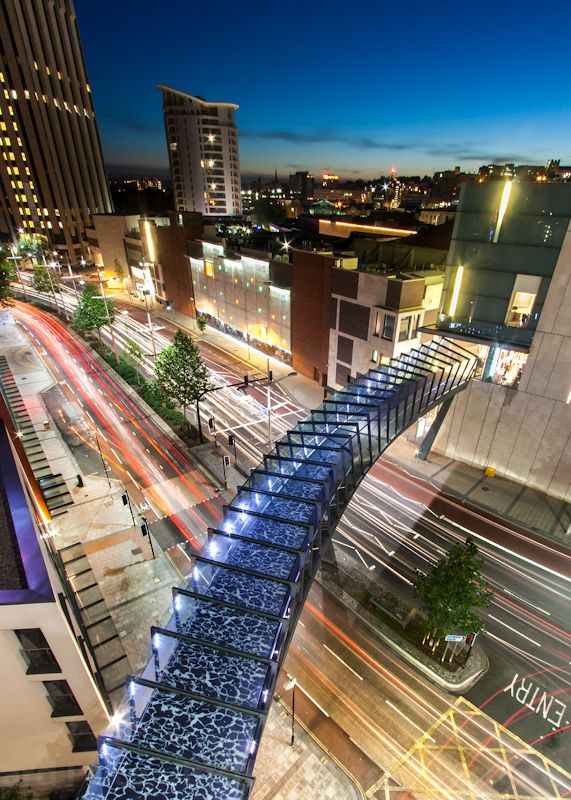 Cabot circus Bristol. Lighting design by Tim Downey and Ian Payne