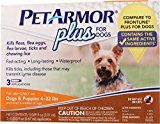#9: PetArmor Plus Flea & Tick Treatment for Dogs 4-22 lbs 3 ct